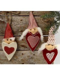 Vilten Hart Kerst Elfen