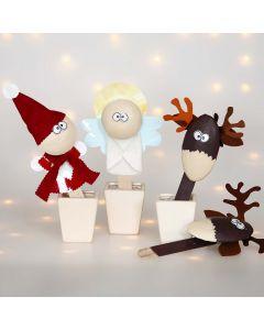 Kerstfiguren op ijsstokjes
