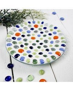 Glazen schaal met mozaiek