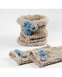 Beenwarmers en ronde sjaal