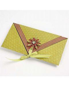 Gevouwen envelop kaart
