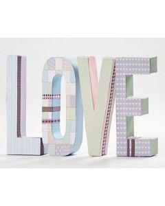 Letters van karton met Vivi Gade Design Papier