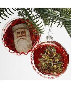 Platte kerstballen