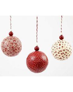 Kerstballen met Vivi Gade stof
