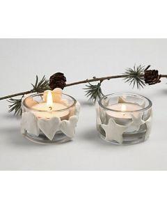 Kerst waxinelichten met Silk Clay