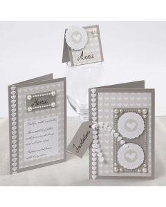 Kaarten voor een huwelijk met Skagen papier