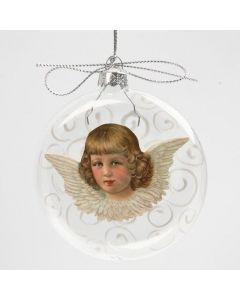 Glazen bal met vintage afbeelding