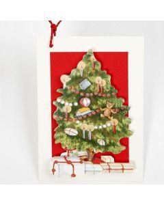 Kaart met kerstboom