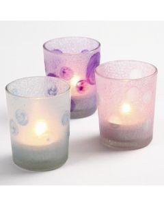 Waxinelichten met Glass Frost
