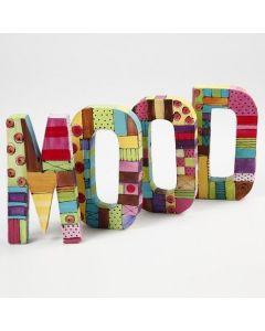 Letters geverfd met Plus Color acrylverf