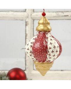 Een hangende decoratie met decoupage