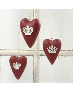 Beschilderde houten harten