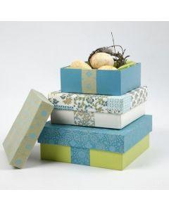 Papier-maché doosjes met handgemaakt papier