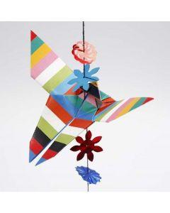 Een origami vlinder