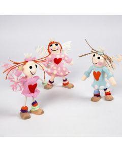 Een engel van flexi figuren met Silk Clay