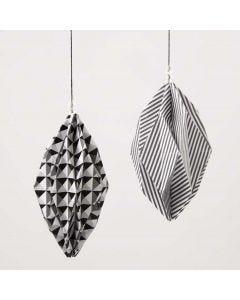 Diamantvormige kerstballen van Paris Design papier