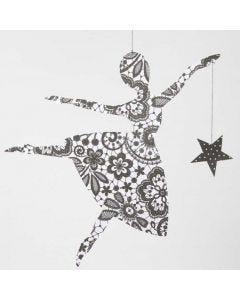 Een Paris Design papieren ballerina met ster