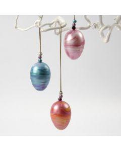 Hangende eieren gerold in A-Color Metallic verf