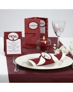 Kaartenserie met een lint van satijn en handgemaakt papier