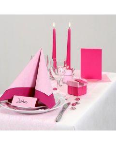 Roze feestaankleding voor uw tafel