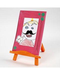 Portret met strip effect in een kartonnen lijst