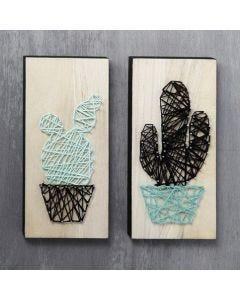 String Art op houten ikonen