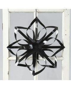 Ster van Vivi Gade zwarte, glanzende papieren vlechtstroken