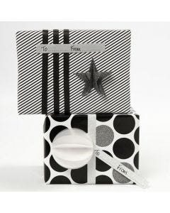 Cadeau met Vivi Gade cadeaupapier en decoraties (de Paris serie)