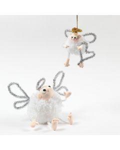 Een pompom engel met Silk Clay en chenille