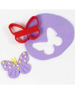 Een vlinder uitgestoken uit Silk Clay