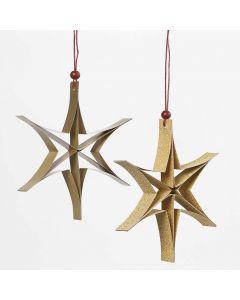 Een ster gemaakt van smalle papierstroken