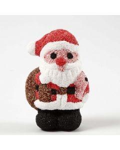Een styropor kerstman met Foam Clay