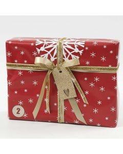 Rood, wit en goud geschenkverpakking