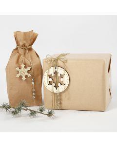 Geschenkverpakking met gouden decoraties