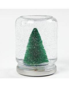 Snow Globe gemaakt van jampot