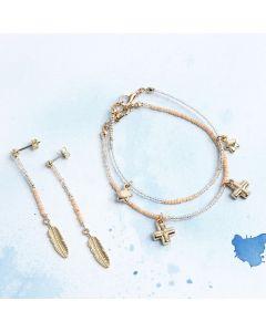 Armbanden en oorbellen met hangers