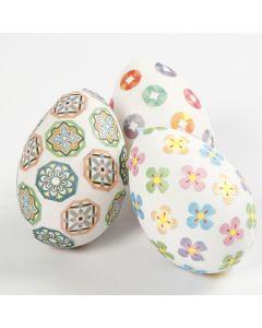 Eieren gedecoreerd met masking tape