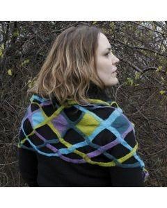 Sjaal met natvilttechniek