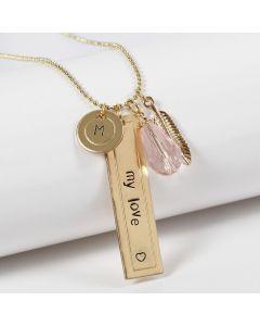 Persoonlijke sieraden met labels