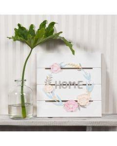 Bloemenkrans van Silk Clay en Silk Clay Creamy
