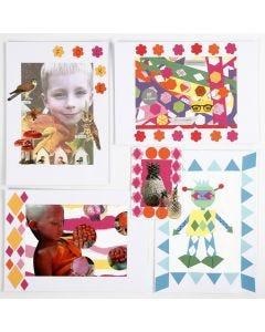 Collage met geponste vormen