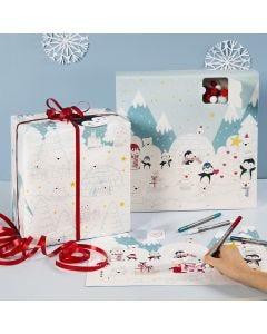 Adventkalender om zelf te kleuren