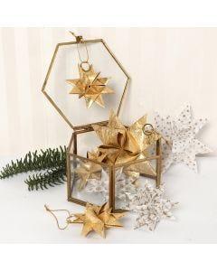 Kerststerren van vellum papierstroken