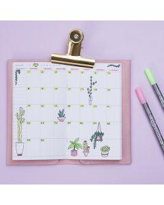 Gedecoreerde wekelijkse kalender voor een Bullet Journal