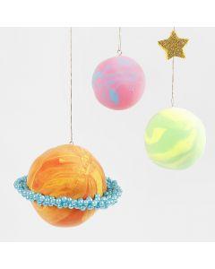 Planeten van Silk Clay en Pearl Clay