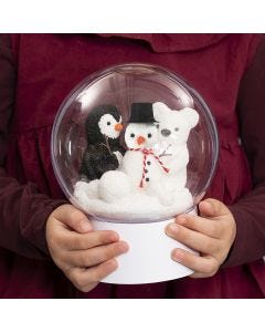Deco bal met pooldieren als sneeuwbal