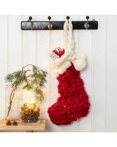 Gehaakte kerstsok voor adventskalender cadeaus