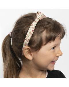 Haarband met knoop van textiel