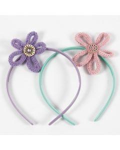 Haarband met gepunnikte bloemen