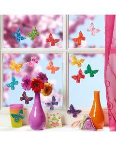 Kleurrijke vlinders van Fimo klei